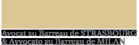 AVOCAT AU BARREAU DE STRASBOURG & AVVOCATO AU BARREAU DE MILAN